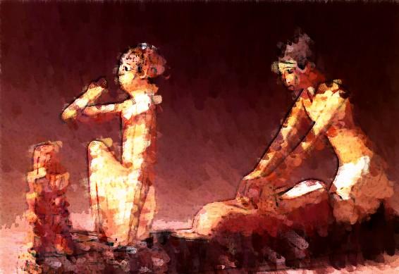 Egipcios en harina